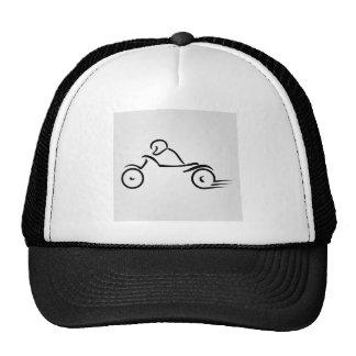 Biker showing road safety cap