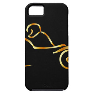 Biker showing road safety iPhone 5 cover
