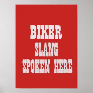 Biker slang poster