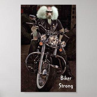 Biker Strong Print