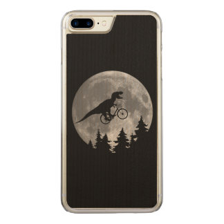 Biker t rex In Sky With Moon 80s Parody Carved iPhone 8 Plus/7 Plus Case