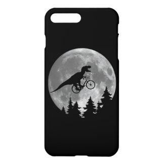 Biker t rex In Sky With Moon 80s Parody iPhone 7 Plus Case