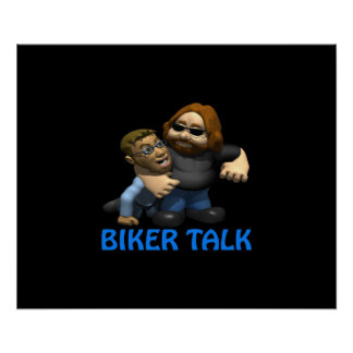 Biker Talk Print