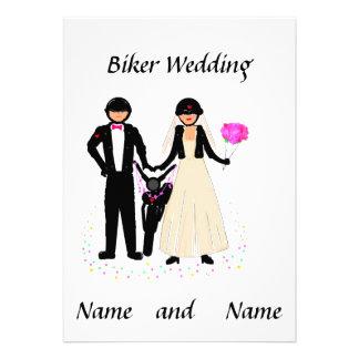 Biker Wedding Add details Personalized Announcements