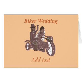 Biker Wedding Products Greeting Card