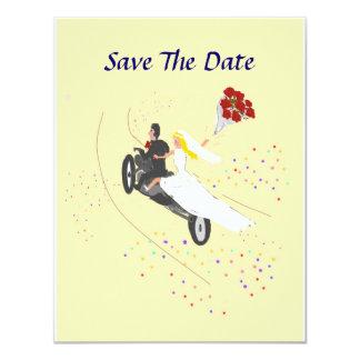 Biker Wedding Save The Date 11 Cm X 14 Cm Invitation Card