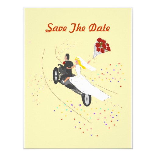 Biker Wedding Save The Date Custom Invitation