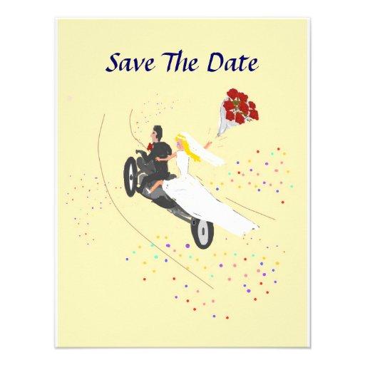 Biker Wedding Save The Date Custom Announcements