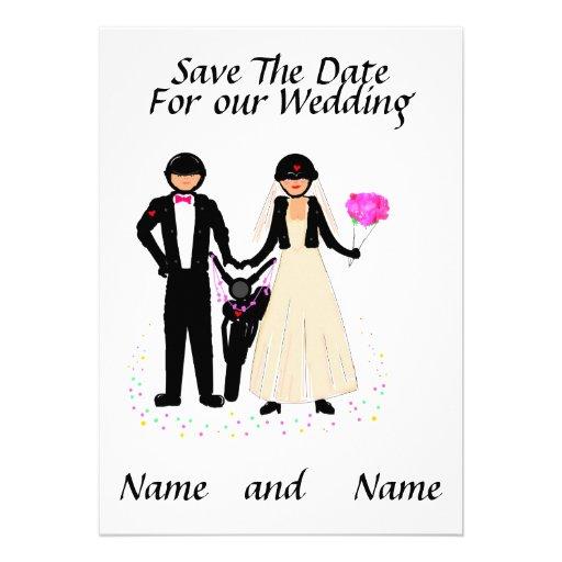 Biker Wedding Save The Date/ Invitations