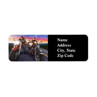 Bikers 1A Avery Label Return Address Label