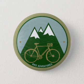bikers adventure, mountains 6 cm round badge