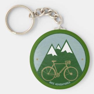 bikers adventure, mountains basic round button key ring