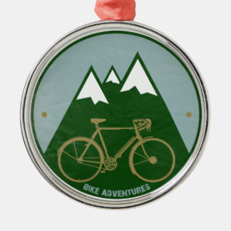 bikers adventure, mountains christmas ornament