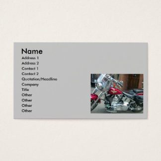 BIKER'S BUSINESS OR PERSONAL CARD