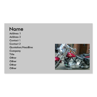 BIKER'S BUSINESS OR PERSONAL CARD PACK OF STANDARD BUSINESS CARDS