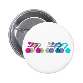 Bikers cool logo pinback buttons