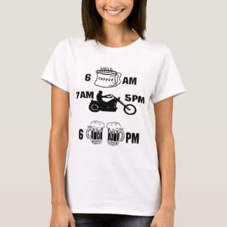 Bikers Day; Coffee, Riding and Beer T-Shirt