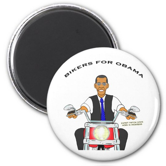 Bikers for Obama 6 Cm Round Magnet