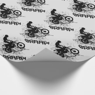 Bikers Motocross Dirt Bikers Mud Splatter Braap! Wrapping Paper