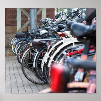 Bikes - Amsterdam Poster