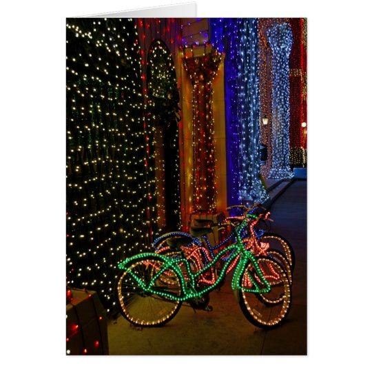 bikes in lights card