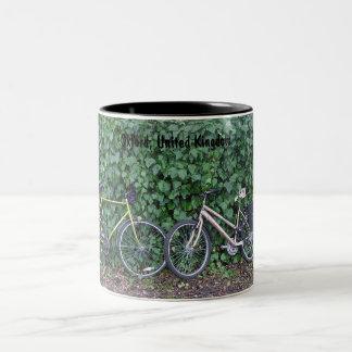 Bikes & Ivy Two-Tone Mug