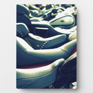 Bikes Lined Up Photo Plaque