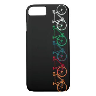 bikes of different colors iPhone 7 case