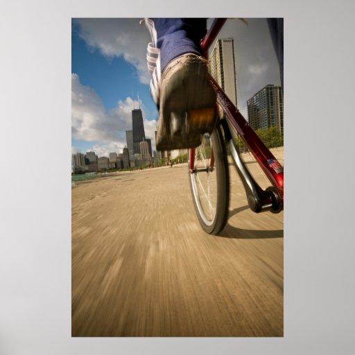 Biking Chicago's Lakefront Poster