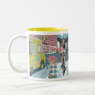 Biking Girl in Brooklyn New York | Mug