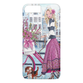 Biking in Amsterdam Girl- Iphone 7 plus case