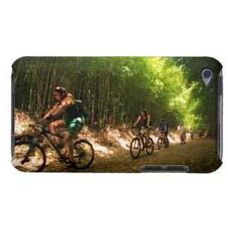 Biking in bamboo trail iPod Case-Mate case