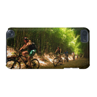 Biking in bamboo trail iPod touch (5th generation) cases