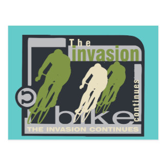 Biking Invasion Tshirts and Gifts Postcard