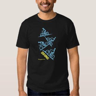 Biking people drawing art t-shirt design