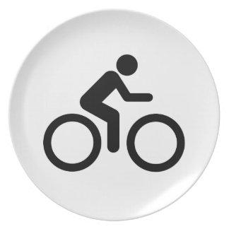Biking Symbol Party Plate