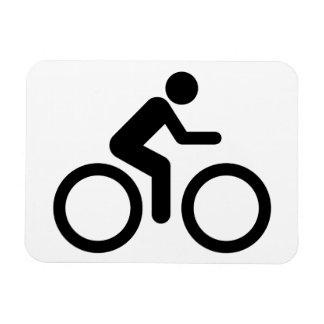 Biking Symbol Rectangular Photo Magnet