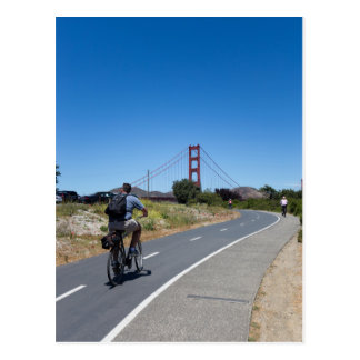 Biking to the Golden Gate Bridge Postcard