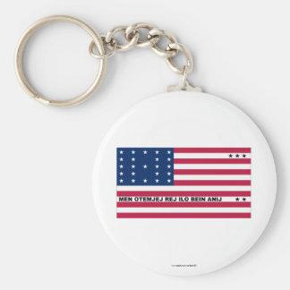 Bikini Atoll Flag Key Chain