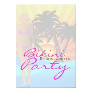 Bikini Beach Bachelorette Party Personalized Invite