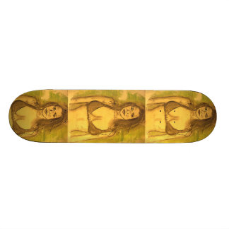 bikini girl art skate board