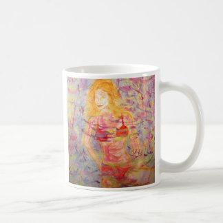 bikini girl basic white mug