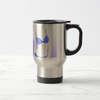 Bikini Girl Blue Stainless Steel Travel Mug