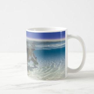 Bikini girl play in ocean mugs