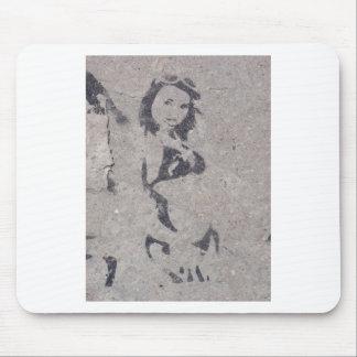 Bikini Girl Street Art Mouse Pads