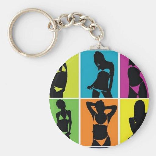 Bikini girls design key chain