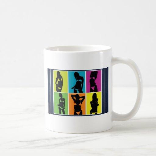 Bikini girls design coffee mugs