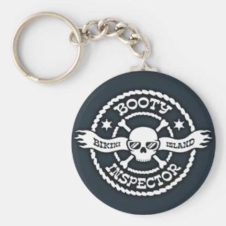 Bikini Island Booty Inspector Basic Round Button Key Ring
