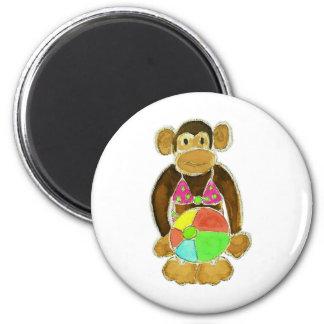 Bikini Monkey Fridge Magnets