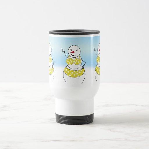 Bikini Time Snowmen Bikini Girl Mug